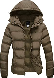 Wantdo Women's Thick Winter Coat Quilted Warm Puffer Jacket with Removable Hood