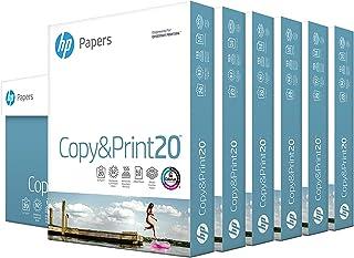 HP Printer Paper 8.5x11 Copy&Print 20 lb 6 Pack Case 2400 Sheets 92 Bright Made in USA FSC Certified Copy Paper HP Compati...