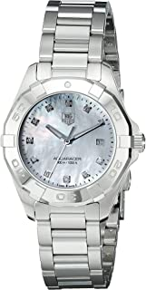 Women's WAY1413.BA0920 Diamond-Accented Stainless Steel Watch with Link Bracelet