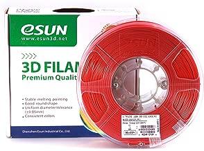 eSUN 1.75mm Red ABS 3D Printer filament 1kg Spool (2.2lbs), Red