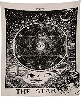 Sun Tapestry Psychedelic Wall Hanging Decor Moon Star Bohemian Mandala Tapestry Fractal Faces Mystic Tapestry For Bedroom Living Room Dorm Blanket Towel Yoga Beach Mat ( C, 150x130cm)