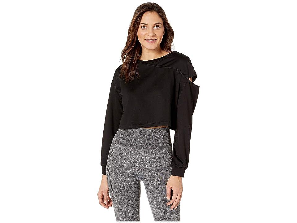MICHI Fusion Crop Sweatshirt (Black) Women