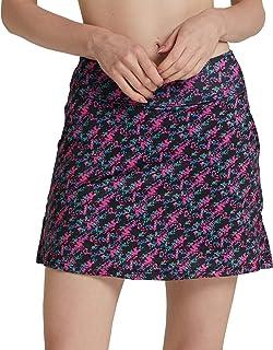 Cityoung Women's Golf Pleated Flat Skort Pockets