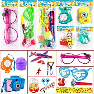 28 Packs Goodie Bags with 56 Random Toys Valentines Gifts Cards Slime Glasses Pens Camera Airplane Fidget Toy Decorations ...
