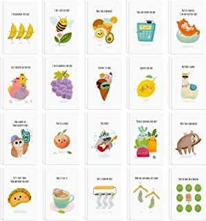 40 Funny Postcards Punny Puns - Bulk Thinking of You Postcard Pack for Friends, Family, Kids, Students, Teacher, and More...