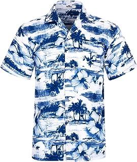 8872cd006b3 Men s Hawaiian Shirt Short Sleeve Aloha Shirt Beach Party Flower Shirt  Holiday Print Casual Shirts L1