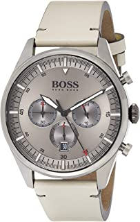 Hugo Boss Mens Quartz Watch, Chronograph Display and Leather Strap 1513710