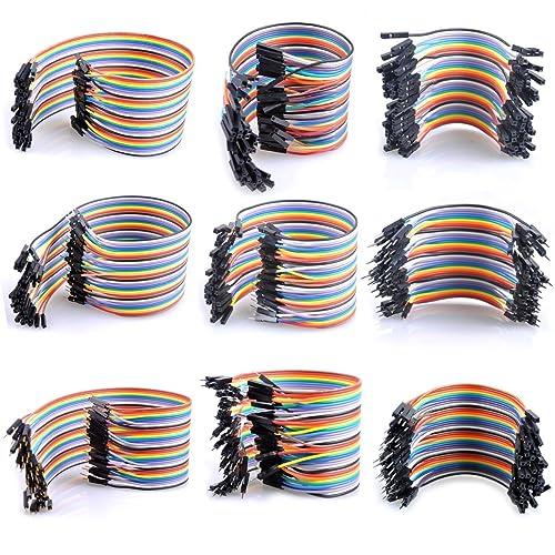 Kit de Cables Arduino Dupont 120 Pcs, de UCEC Cables de Puente BreadBoard Jumper 40