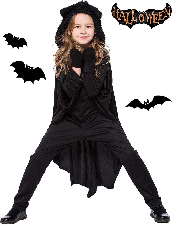 Seawhisper Bat Halloween Costumes for Kids Size 4-12
