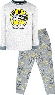 Conjunto de pijama para niños de 3 a 10 años | Pijama de manga larga de Batman | 100% algodón Superhéroe disfraz | Producto oficial | Regalo para niños