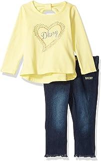 DKNY Baby Girls 2 Piece Top and Denim Jean Set