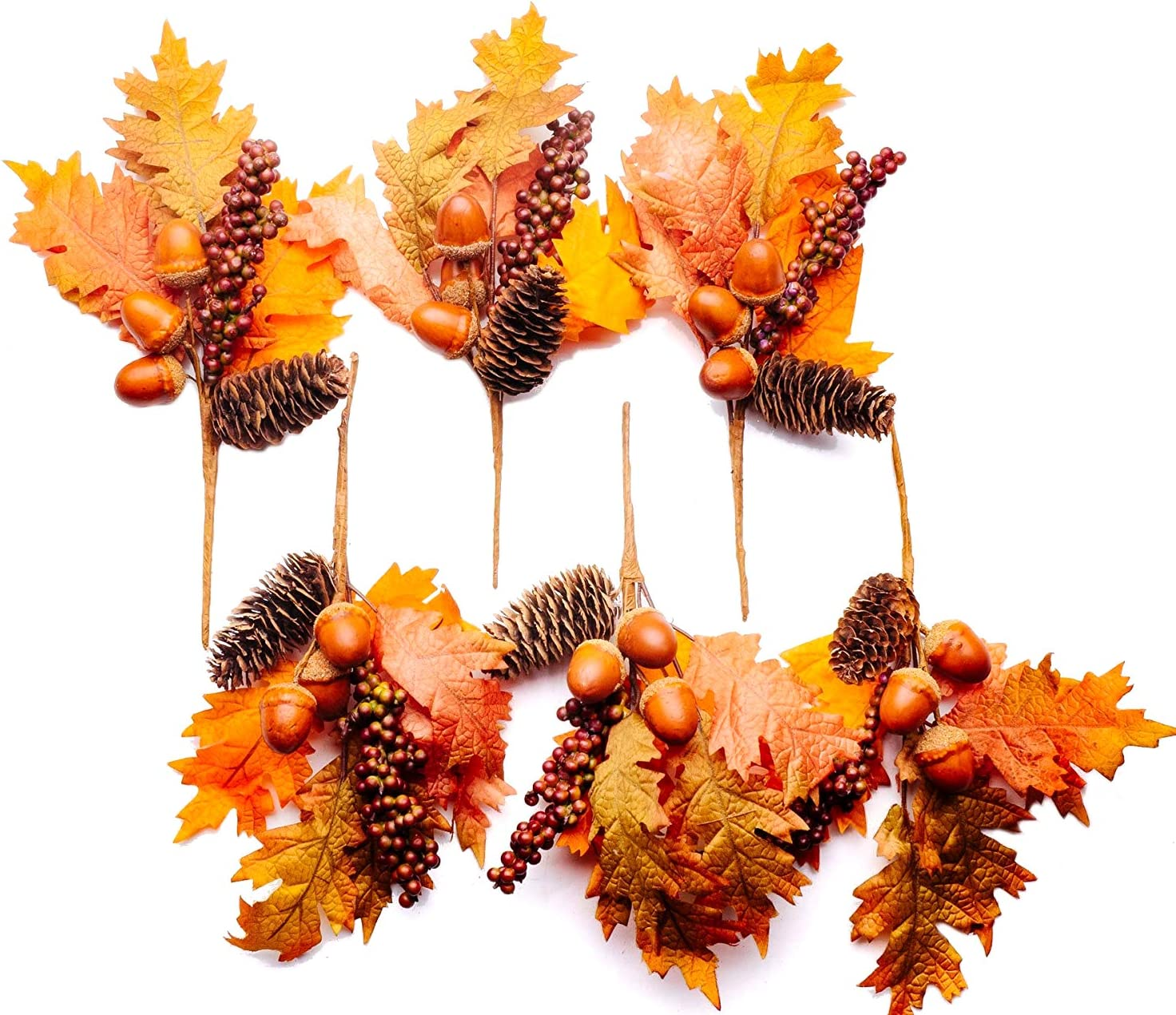 CraftMore Maple Pine Cone favorite Fall Pick 6 Pack 11 Inch