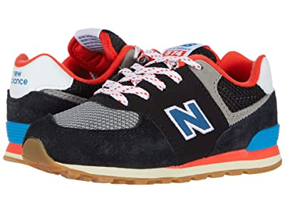 New Balance Kids 574 Core Plus (Infant/Toddler) (Black/Neo Classic Blue) Boys Shoes