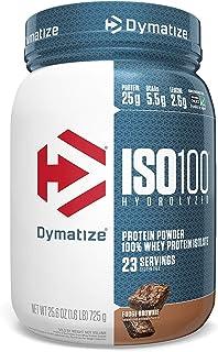 Dymatize ISO 100 Whey Protein Powder with 25g of Hydrolyzed 100% Whey Isolate, Gluten Free, Fast Digesting, 1.6 Pound Fudg...