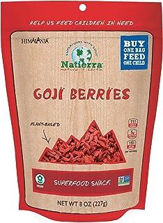 NATIERRA Himalania Goji Berries   Non-GMO & Vegan   Protein & Fiber   8 Ounce