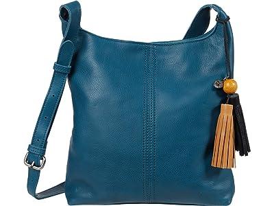 The Sak Huntley Leather Crossbody (Teal) Handbags