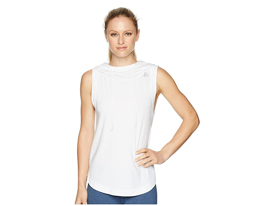 Reebok Workout Ready Sleeveless Hoodie (White) Women