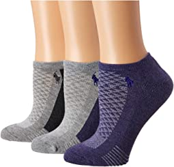 Cushion Contrast Sole Low Cut 3-Pack w/ Mesh