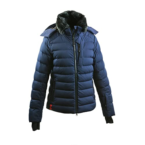 Tefaneso Womens Down Jacket Waterproof Windproof Ladies Down Coat Winter Ski  Snowboard Sport Warm Goose Puffer 6a1bed0bb
