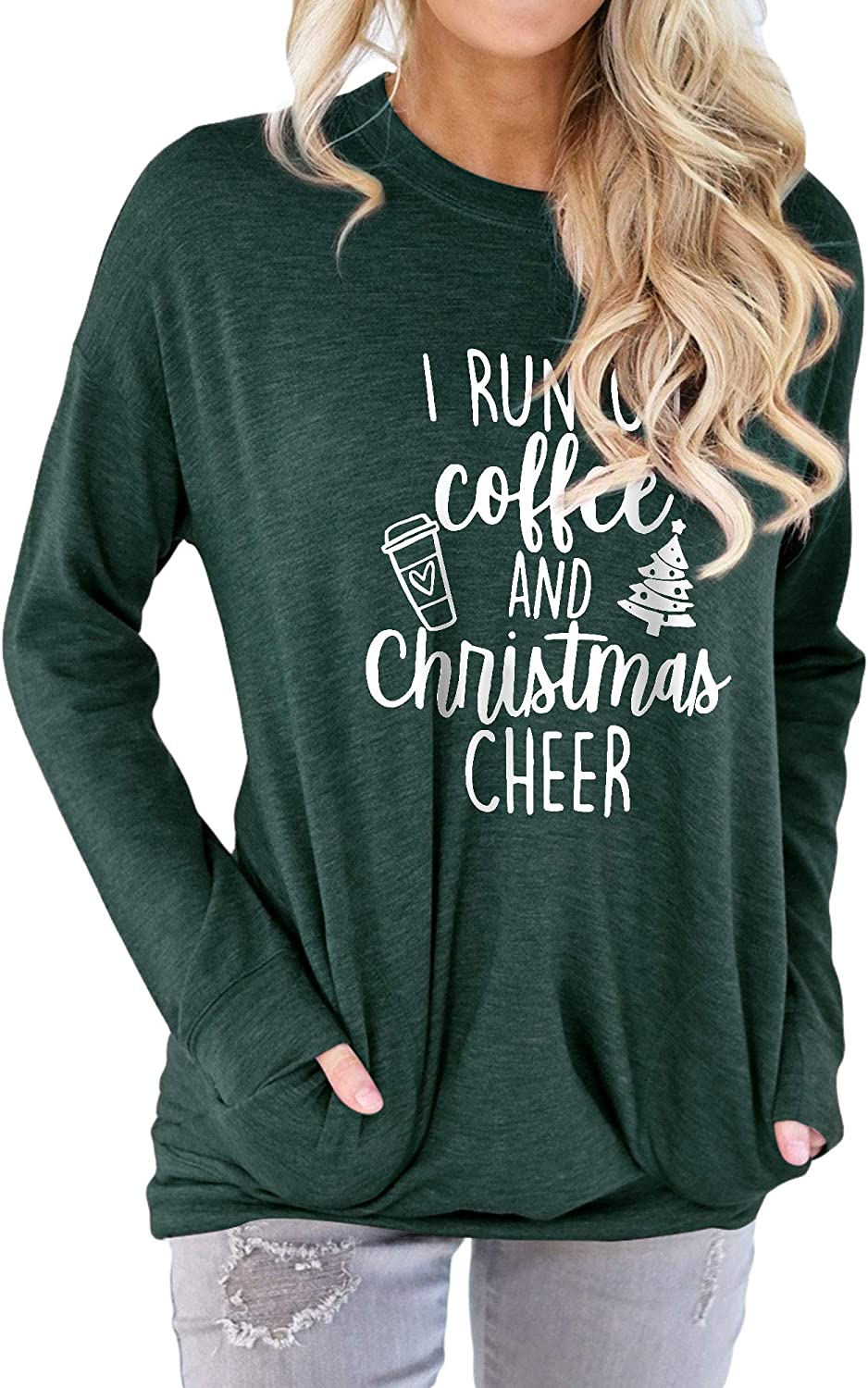 WLLW Holiday Shirts for Women 公式ショップ I メーカー直売 Christmas Run Coffee and Chee On