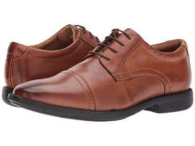 Nunn Bush Dixon Cap Toe Oxford with KORE Walking Comfort Technology (Cognac) Men