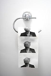 Boris Johnson Rollos de papel higiénico divertido regalo – Ideal para decoración de baño de Navidad, divertido regalo de broma de Papá Noel secreto de broma de Papá Noel