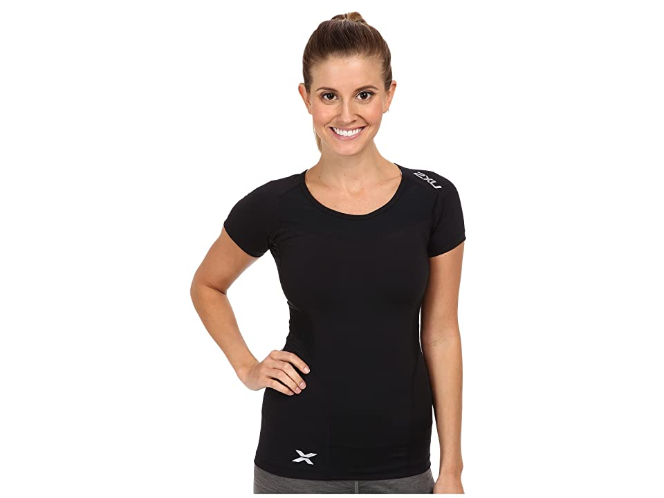 2XU Compression S/S Top (Black/Black) Women
