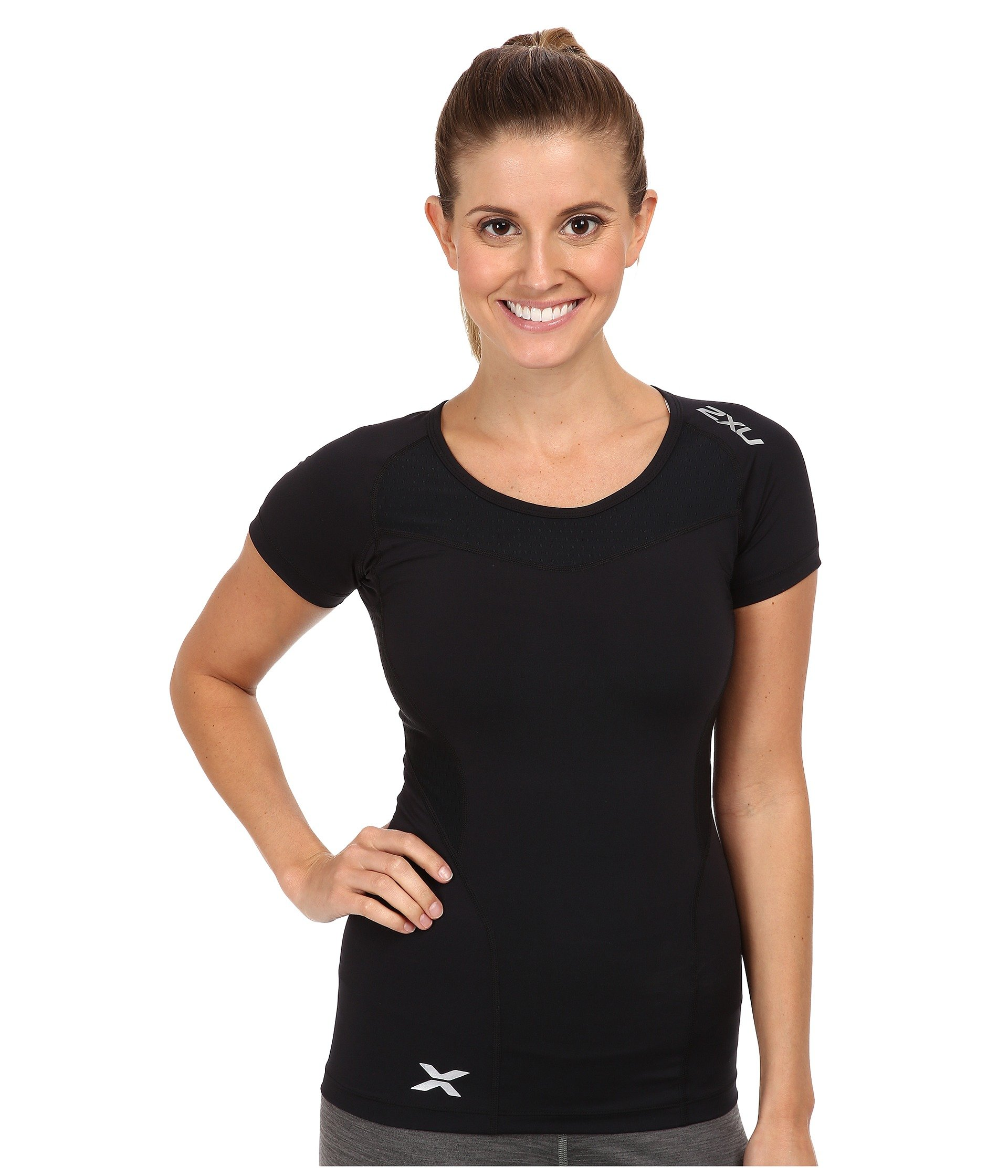 2XU Compression S/S Top Black/Black Women's Running T-Shirts 8397746