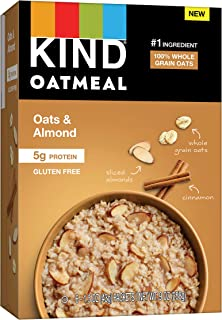 KIND Oatmeal, Oats & Almond, Gluten Free, Low Sugar, Individual Packets, 30 Count, 270 Ounce
