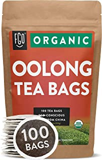 Organic Oolong Tea Bags | 100 Tea Bags | Eco-Conscious Tea Bags in Kraft Bag | Raw from..