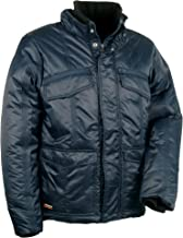 Cofra winterjas met capuchon Essen V095 warm gevoerde werkjas, maat 62, marine, 40-00V09502-62