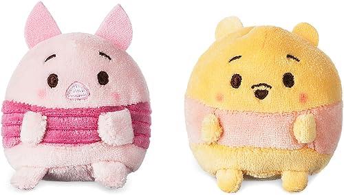 Disney Store jpan, Disney ufufy (Ufufi) stuffed (mini) Pooh and Piglet, TSUM TSUM plush