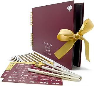 Scrapbook Kit - 80 Pages Photo Album - Scrapbooking Picture Album - Craft Paper DIY Memory Book, Wedding Guestbook, Travel...