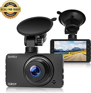 Lamtto Caméra de Voiture Full HD 1080P Dash Cam 3 Pouces Caméra Embarquée Voiture,..