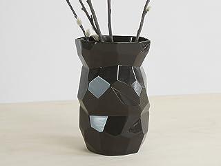 Poligono Nero Vaso - black piante disegno originali piatti fatto cina fiori limitato