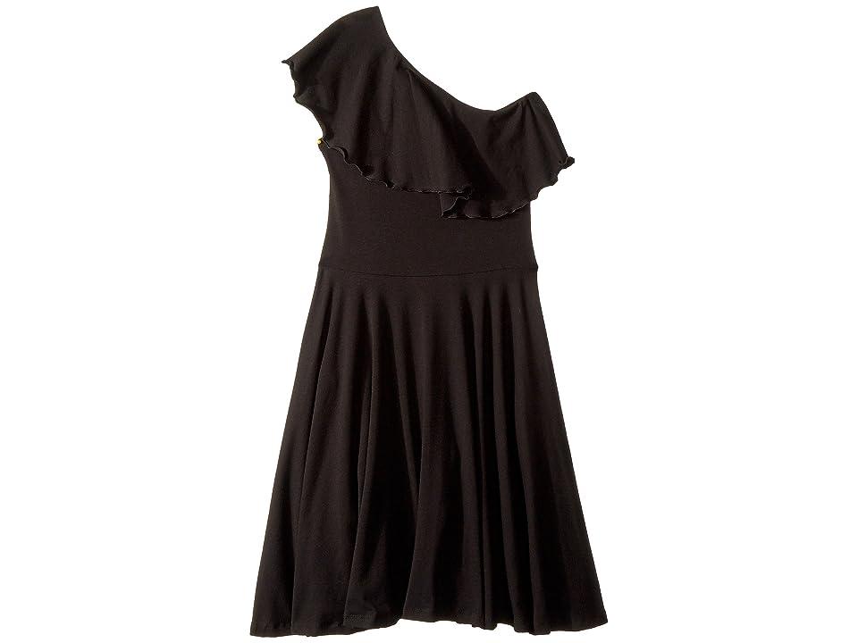 fiveloaves twofish Zoe One Shoulder Knit Dress (Little Kids/Big Kids) (Black) Girl