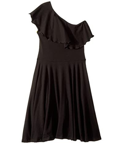 fiveloaves twofish Zoe One Shoulder Knit Dress (Little Kids/Big Kids) (Black) Girl
