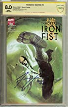 Immortal Iron Fist #1 CBCS 8.0 Signed Finn Jones (Game of Thrones) CGC Dell'Otto Cover Seen in Netflix Daredevil and IronFist shows