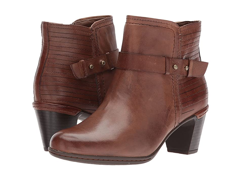Rockport Cobb Hill Collection Cobb Hill Rashel Buckle Boot (Almond Leather) Women
