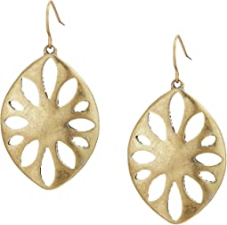 Large Perforated Drop Earrings
