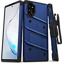 ZIZO Bolt Series Samsung Galaxy Note 10 Plus Case | Heavy-Duty Military-Grade Drop Protection w/Kickstand Included Belt Clip Holster Lanyard (Blue/Black)