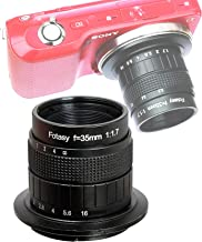 Fotasy 35mm f1.7 Lens for Sony E-Mount Camera, 35mm 1.7 Multi Coated Manual E-mount Lens fits Sony NEX-5R NEX6 NEX7 a3100 a5100 a6000 a6100 a63000 a6400 a6500 a6600