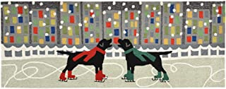 Liora Manne FT0R6A53444 Whimsy Festive City Dogs Rug, Indoor/Outdoor, Runner, Multicolored