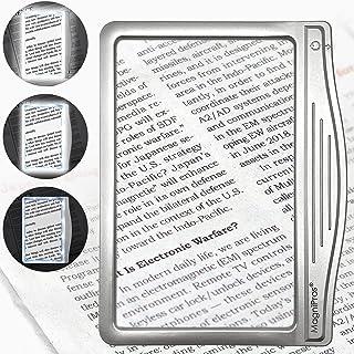 MagniPros 3X بزرگ صفحه نمایش فوق العاده روشن LED صفحه نمایش با 12 LED ضد انعطاف پذیر قابل تنظیم (به طور منظم چشم انداز چشم انداز و کاهش سایش چشم) -Ideal برای خواندن چاپ های کوچک و چشم سالمندان با چشم های پیری