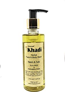 Khadi Neem and Tulsi Face and Body Wash (for anti acne & pimple), 210ml