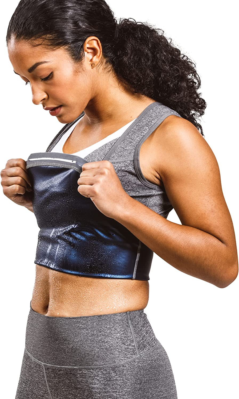 Sweat Shaper Women's Premium Workout Tank Top Slimming Polymer Sauna Vest
