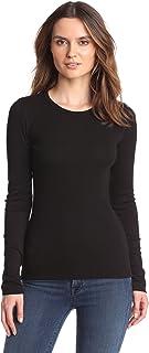 Splendid Women's 1x1 Rib Long-Sleeve Crew T-Shirt Top