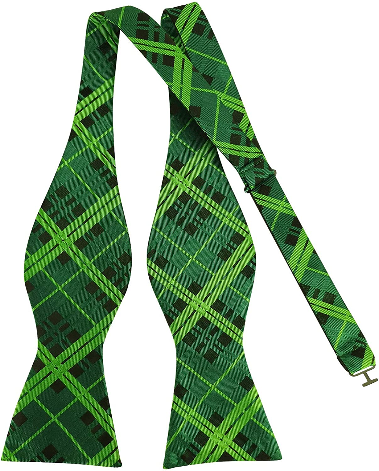Cheap Men's Exquisite Woven Green Self Bow Solid Cheap bargain Bowties Plaid Tie