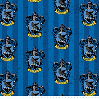 Harry Potter Ravenclaw in Blue Fleece Fabric by The Yard