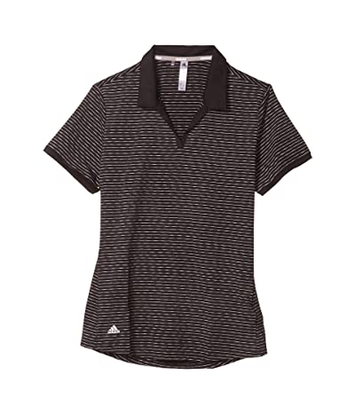 adidas Golf Ultimate365 Space Dye Striped Polo Shirt (Black) Women